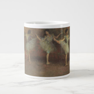 Before the Ballet by Edgar Degas, Vintage Fine Art Giant Coffee Mug