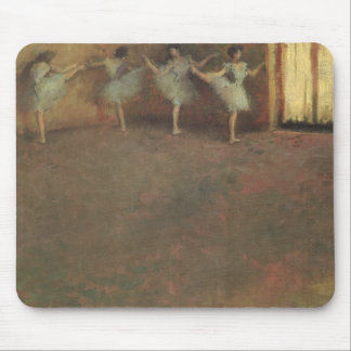 Before the Ballet by Edgar Degas, Vintage Fine Art Mouse Pad