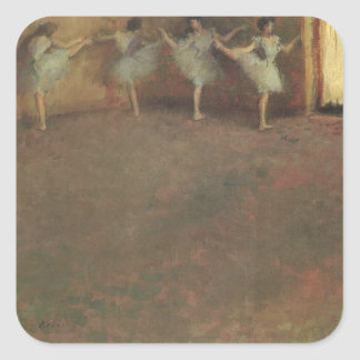 Before the Ballet by Edgar Degas, Vintage Fine Art Square Sticker