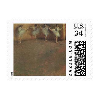 Before the Ballet by Edgar Degas, Vintage Fine Art Stamp