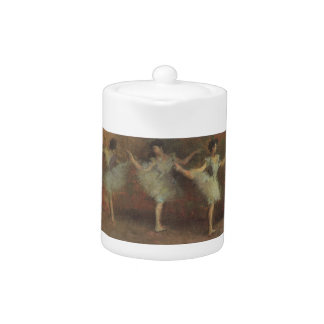 Before the Ballet by Edgar Degas, Vintage Fine Art Teapot