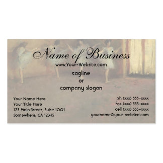 Before the Ballet (detail) by Edgar Degas Business Card