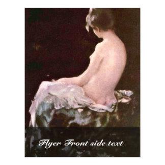 "Before The Bath By Grigorescu Nicolae 8.5"" X 11"" Flyer"