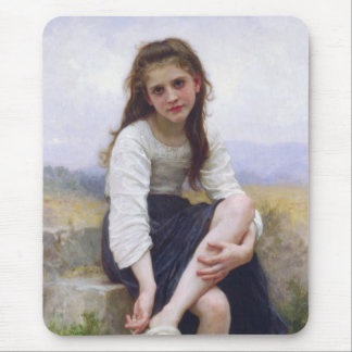Before The Bath by William Bougereau Mouse Pad