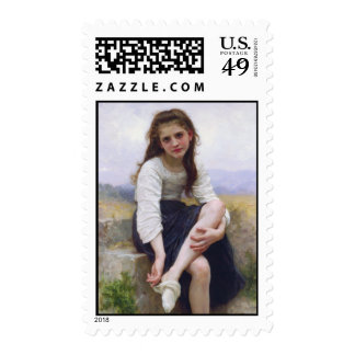Before the Bath - John William Waterhouse Postage Stamps