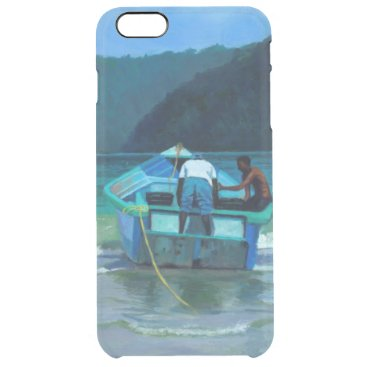 Beach Themed Before the Catch Clear iPhone 6 Plus Case