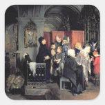 Before the Confession, 1877 Square Sticker