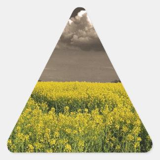 Before The Harvest.jpg Triangle Sticker