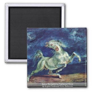 Before The Lightning Frightened Horse Magnet