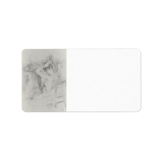 Before the mirror by Berthe Morisot Custom Address Labels