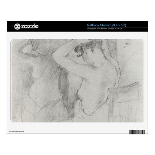 Before the mirror by Berthe Morisot Decal For Netbook