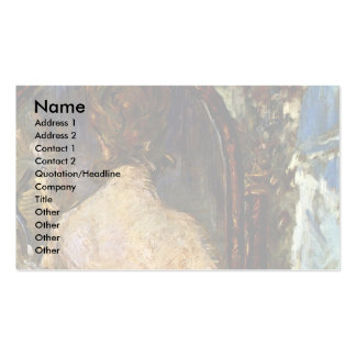 Before The Mirror By Manet Edouard Business Cards