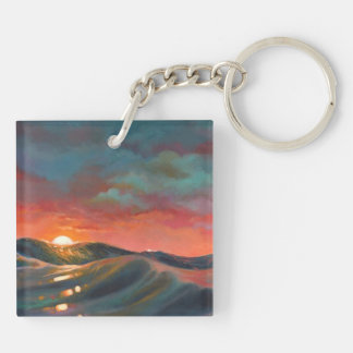 Before The Night Storm Double-Sided Square Acrylic Keychain