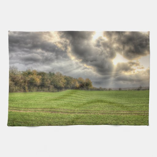 Before the Rain Countryside kitchen tea towel