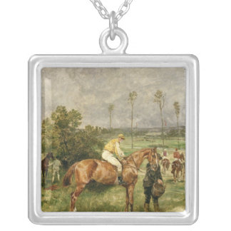 Before the Start, 1890 Silver Plated Necklace