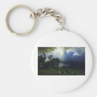 Before the Storm by Bierstadt Keychain