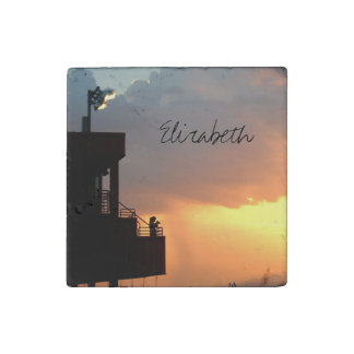 Before the Storm Sunset Art Photograph Stone Magnet