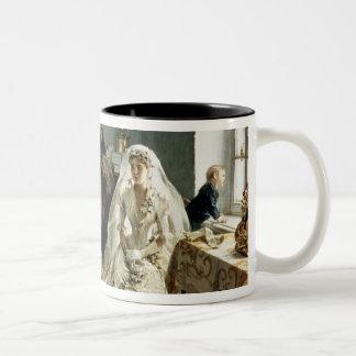 Before the Wedding, 1880s Two-Tone Coffee Mug