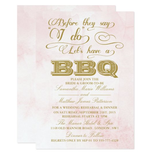 Before They Say I Do Lets Have A Bbq Invitation