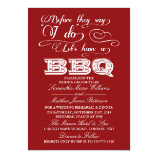 Before They Say I Do Lets Have A BBQ! - Red Card