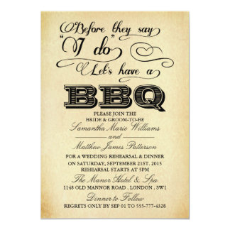 Before They Say I Do Lets Have A BBQ! - Vintage Card