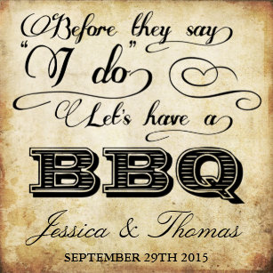 before they say i do lets have a bbq vintage paper napkin