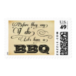 Before They Say I Do Lets Have A BBQ! -Vintage Stamp