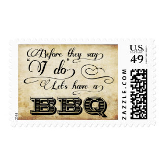 Before They Say I Do Lets Have A BBQ! -Vintage Postage