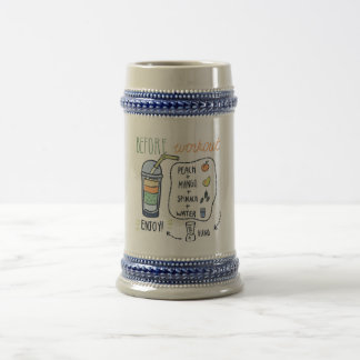 Before workout, healthy shake recipe beer stein