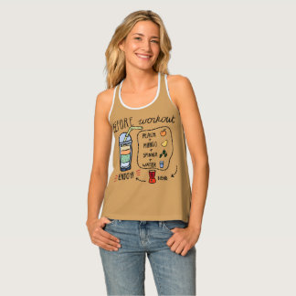 Before workout healthy women's all-over t tank top