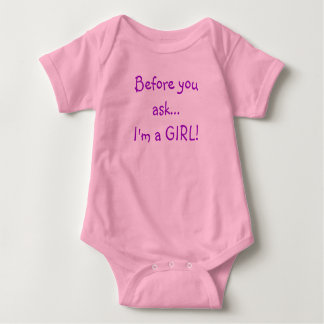 Before you ask...I'm a GIRL! Baby Bodysuit