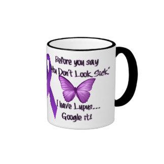 "Before you say...""You Dont Look Sick"" Ringer Mug"