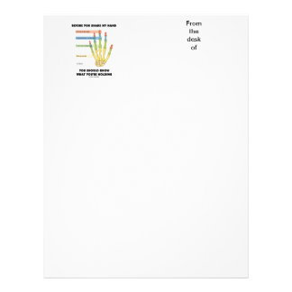 Before You Shake My Hand Know What You're Holding Personalized Letterhead