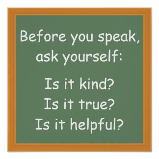 Before You Speak Classroom Poster