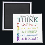 "Before You Speak - Think Colorful Phrase Magnet<br><div class=""desc"">Before You Speak - Think Colorful Phrase Magnet. Unique and original work made by professional GetArtFactory designers. It&#39;s a great opportunity to get it!</div>"