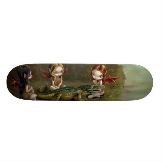 Befriending an Alligator gothic fairy Skateboard