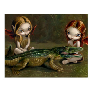 """""""Befriending postal de un cocodrilo"""""""