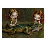 """""""Befriending tarjeta de felicitación de un cocodri"""