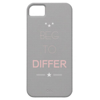 Beg to Differ Minimalistic Design Phone Case iPhone 5 Case
