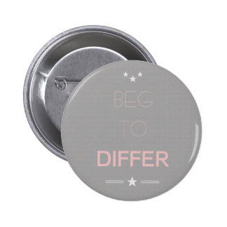 Beg to Differ Quote Minimalistic Typography Button