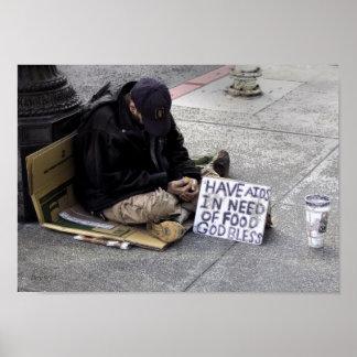 Beggar, San Francisco Poster