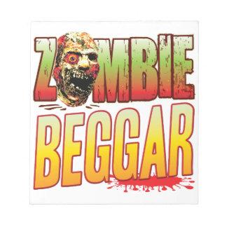 Beggar Zombie Head Memo Notepads