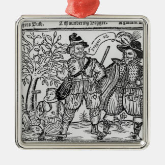 Beggars All Square Metal Christmas Ornament