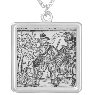 Beggars All Silver Plated Necklace