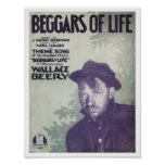 Beggars Of Life Vintage Songbook Cover Poster