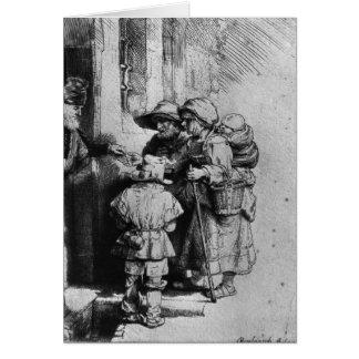 Beggars on the Doorstep of a House, 1648 Card