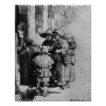 Beggars on the Doorstep of a House, 1648 Poster