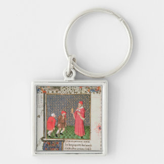 Beggars Silver-Colored Square Keychain
