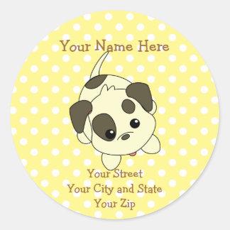 Beggin Puppy Round Sticker
