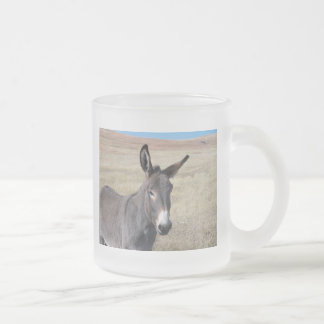Begging Burro Frosted Glass Coffee Mug